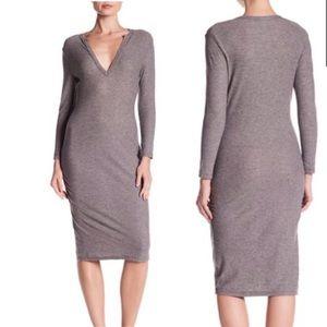 James Perse Melange Rutched Dress